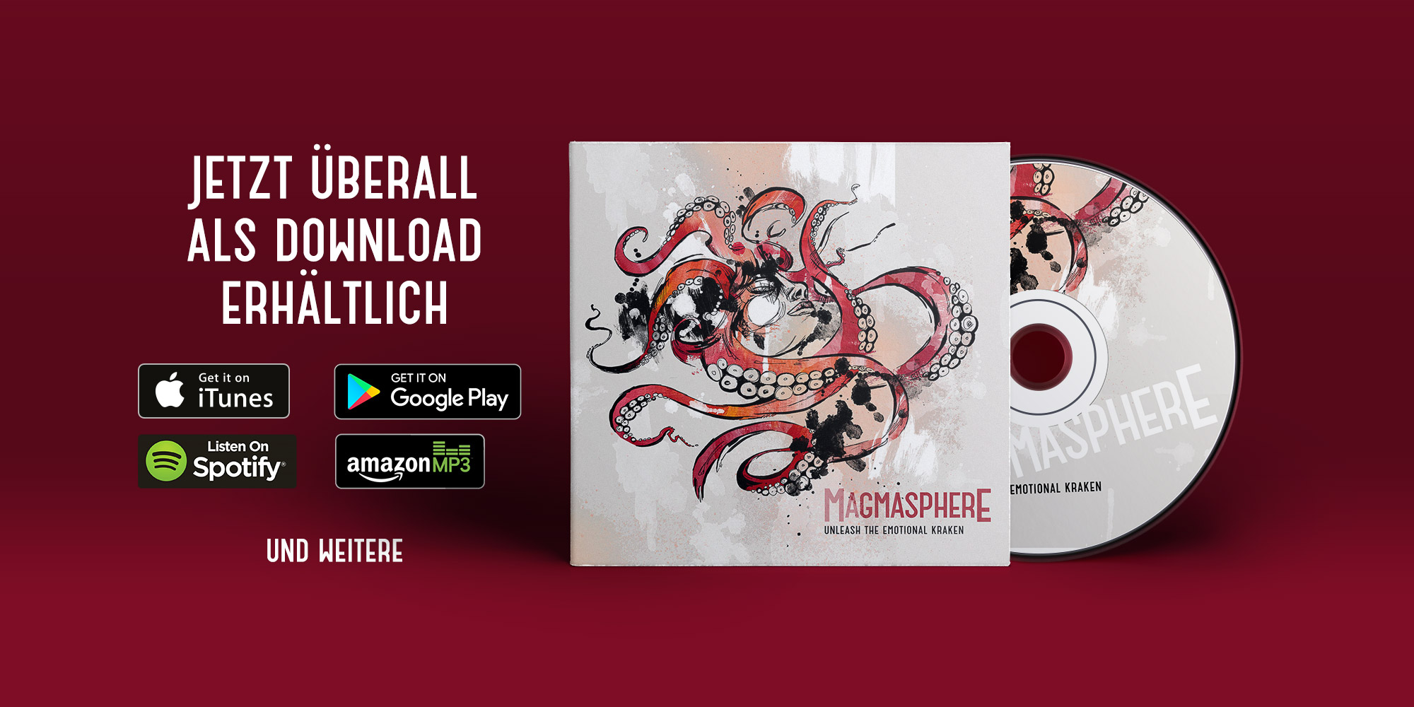 "Online-Release ""unleash the emotional kraken"""
